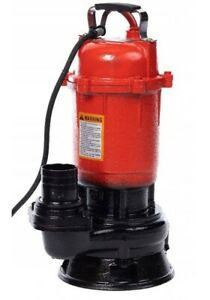 Schmutzwasserpumpe mit Schneidmesser Tauchpumpe 0,75kW Pumpe