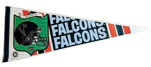 Vintage Atlanta Falcons Pennant 12 x 30 inches  NFL Football by Wincraft 1980s