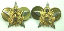 WW2 US Army General Staff Corps Officer Insignia Pair - STERLING - CB
