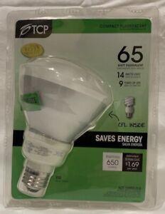TCP 6R3014 14W BR30 CFL 2700K E26 Reflector Flood Light Bulb 65W Equal