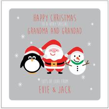 Personalised GRANDPARENTS CHRISTMAS Card Gran Grandad Grandma Granda Nan Nanna
