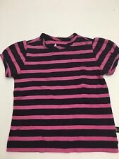 NWT BABY GAP GIRLS 12-18 MONTHS STRIPED TEE T ABBEY ROAD PINK NAVY STRIPES