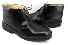 ENRICO ANTINORI Italy Black Leather Ankle Lace Up Chukka Boots Mens 12 43