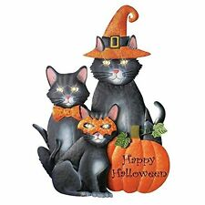 Happy Halloween Lighted Halloween Cats Yard Stake Lawn Garden Outdoor Home Decor
