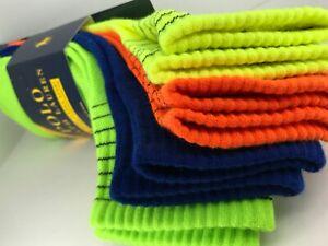 Men's POLO Ralph Lauren Socks, Bright Quarter Crew Socks, 4 Pair, $36 MSRP 🎾🎒