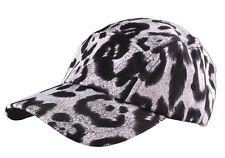 Neff Headwear White Leopard Print Strapback 5-Panel Baseball Hat Cap F13014 NW