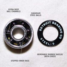 *New* Abec9 Skateboard Bearings - Steel (Set of 8 w/ Spacers)