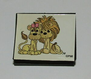 Two Lions Rubber Stamp New Precious Moments Foam Mounted Lion Couple Wild Animal