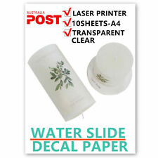10sheets Laser Printer Waterslide Decal Paper Clear Water Decal for Wax Candle