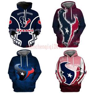 Houston Texans Hoodies Pullover Football Hooded Sweatshirt Fans Jacket Coat