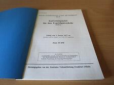 (4962) Entfernungstafel für den Expreßgutverkehr (EntEx) Nr. 607 des Tarifverzei