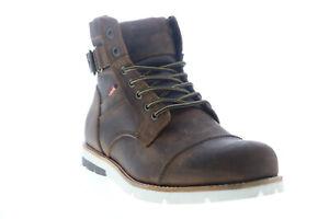 Levis Cobalt LE CT 517971-N43 Mens Brown Leather Lace Up Casual Dress Boots 11
