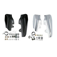 Mid-Frame Air Deflectors For Harley Touring Electra Glide 2001-2008 Black/Chrome