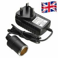 2A Cigarette Lighter Socket 240V Mains Plug to 12V DC Car Charger Power Adapter