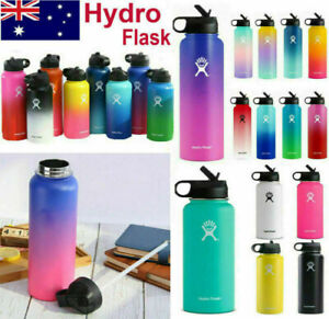 New Hydro Flask 32 oz Insulated Mouth Lid Straw Bottle Stainless Water Cup Brand