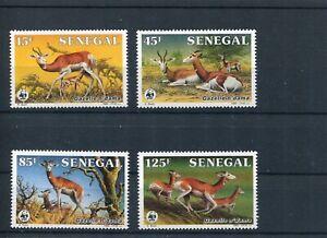 1986 WWF SENEGAL Dama Gazelle 4V complete set MNH POST FREE