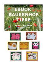 Häkelanleitung EBOOK / CD  PDF Motivtopflappen Tiere Topflappen häkeln