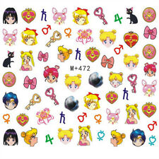 60 Japanese Anime Sailor Moon Decals Water Nail Art Sticker for Nail Polish New