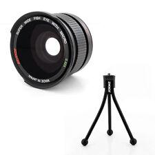 Wide Angle FISHEYE .42X Lens + Macro + tripod fo Nikon 1 J1 V1 camera,Japan made