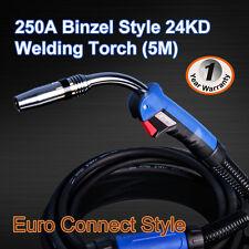 Binzel 24KD MIG/MAG/CO2 Welder Welding Machine Torch Euro Connector 5M Air Cool