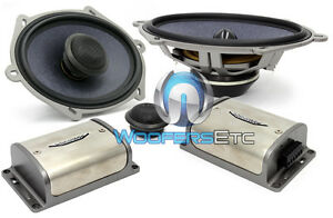 """XS-57 IMAGE DYNAMICS 5x7"""" 6x8"""" 2-WAY COMPONENT SPEAKERS MIDS TWEETERS CROSSOVERS"""
