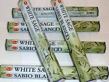 6 x 20 Stück  Räucherstäbchen HEM White Sage - Salbei - incense sticks