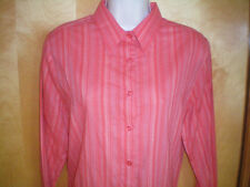NWT womens orange striped CHRISTOPHER & BANKS l/s shirt size S lightweight NEW