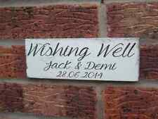 Shabby Personalised Wishing Well Home plaque sign chic & unique