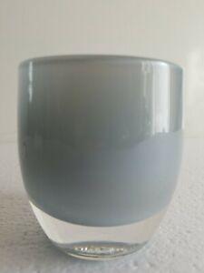 NWT Glassybaby Handblown Glass Votive Candleholder ELEPHANT Grey 0131