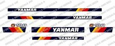 Yanmar C10R Nachverfolgung Dumper Aufkleber Set