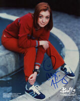 ALYSON HANNIGAN SIGNED AUTOGRAPHED 8x10 PHOTO BUFFY EARLY SIGNATURE BECKETT BAS