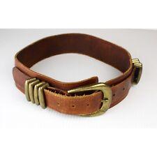 Italian Ac Gypsy Wide Leather Belt Big Buckle