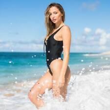 Sheridyn Fisher Badpak zwart 36 AU10 Lace Up one piece swimsuit