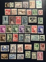 Belgium 1860s - 1950s Collection of Used Stamps