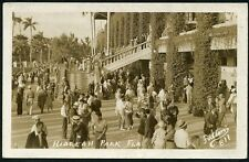 HAILEAH PARK FLORIDA RACETRACK GRANDSTAND 1937 RPPC Photo Postcard