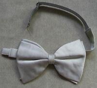 Vintage Bow Tie MENS Dickie Bowtie Adjustable Retro BIG SILVER GREY