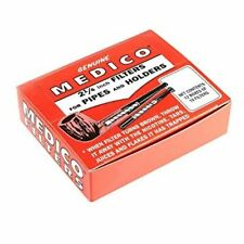 Medico Tobacco Pipe & Cigar Holder Filters BOX of 120 -Filter+FREE PIPE