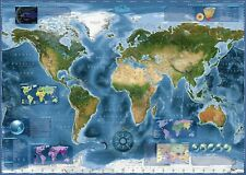 NEW! Heye Satellite Map 2000 piece geographical jigsaw puzzle 29797