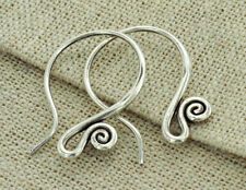 Karen Hill Tribe Silver 2 pairs Ear Wires 23mm. #18
