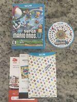 🔥 New Super Mario Bros. U - Nintendo Wii U Tested CIB Complete