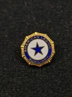 Vintage American Legion Auxiliary Blue Star Gold Tone Pin 12855