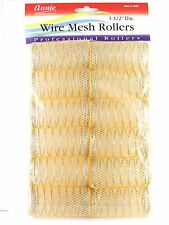 """ANNIE 1-1/2"""" X-LARGE WIRE MESH HAIR ROLLERS - 12 PCS. (1025)"""