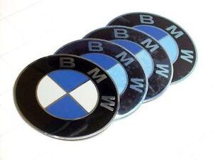 4X GENUINE BMW Plakette Emblem Sticker 70mm E46 M5 M3 E60 E39 E36 36136758569