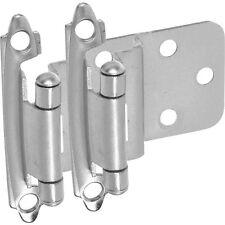 "25 Pairs Cabinet Hardware 3/8"" Inset Hinges Satin Nickel"