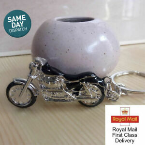 3D Chrome Effect Colourful Metal Harley Davidson Motorcycle Keyring Keychain HOT