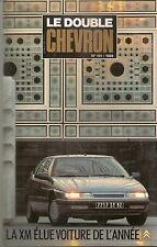 LE DOUBLE CHEVRON 101 CITROEN XM VOITURE DE L'ANNEE 1990 ROSALIE DES RECORDS