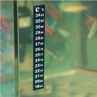 2X Dual Scale Aquarium Fish Tank Flat Glass Thermometer Sticker Adhesive Sticky