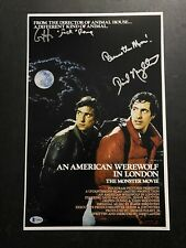 David Naughton And Griffin Dunne Autographed 11x17 W/ Beckett COA