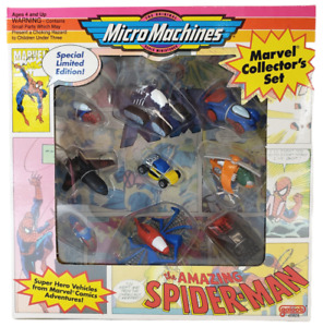 Vintage 1993 Micro Machines Amazing SPIDER-MAN Galoob New in Sealed Box MARVEL