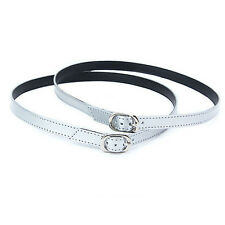 Detachable PU Leather Shoe Strap Lace Band for Holding Loose High Heeled Shoecgt White